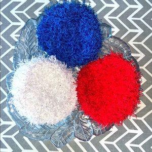 Lot of Three Crocheted Kitchen Scrubbies